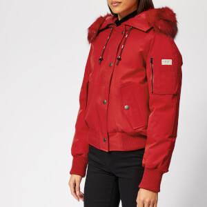 KENZO Women's Technical Short Bomber Coat - Red