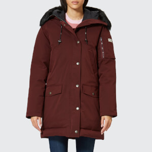 KENZO Women's Technical Long Coat - Plum