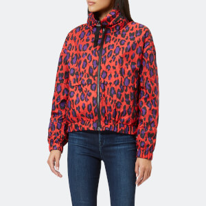 KENZO Women's Leopard Nylon Jacket - Red