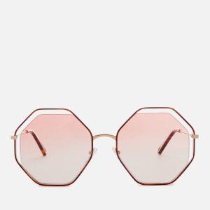 Chloe Women's Poppy Octagon Frame Sunglasses - Havana/Peach