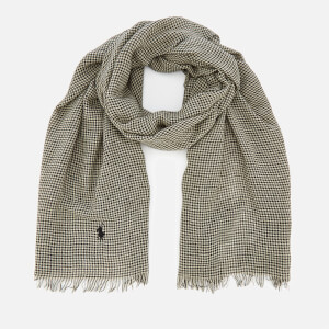 Polo Ralph Lauren Men's Wool Scarf - Black/Cream