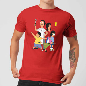 Bobs Burgers Family Pose T-shirt - Rood