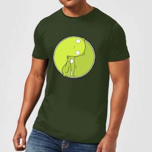 Bobs Burgers Melted Ying Yang T-shirt - Donkergroen