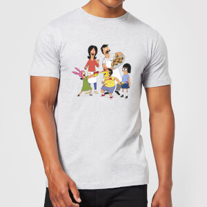 Bobs Burgers Family Fight Men's T-Shirt - Grey