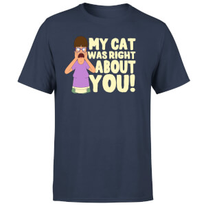 T-Shirt Homme My Cat Was Right About You Bob's Burgers - Bleu Marine