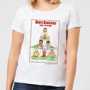 Bobs Burgers Bob's Food Pyramid Women's T-Shirt - White