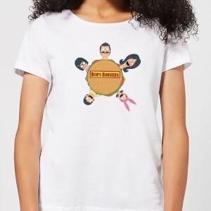 Bobs Burgers Round Table Logo Women's T-Shirt - White