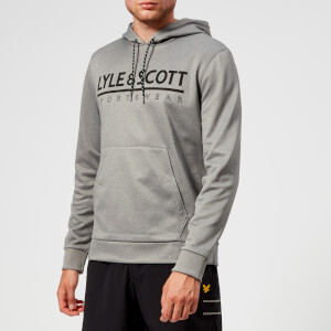 Lyle & Scott Sportswear Men's Cheviot Graphic Mid Layer Hoody - Mid Grey Marl