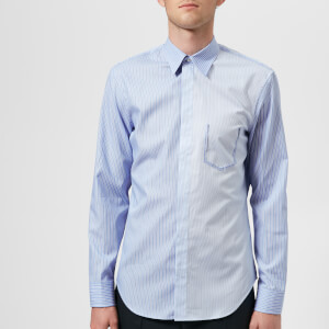 Maison Margiela Men's Classic Stripe Slim Fit Shirt - Blu Stripe