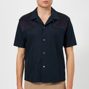 Maison Margiela Men's Cotton Poplin Short Sleeve Western Shirt - Navy