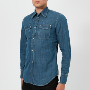 Maison Margiela Men's 80s Washed Shirt - Light Indigo