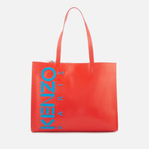 KENZO Women's Logo Small Shopper Bag - Medium Red