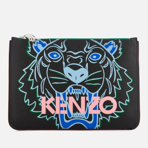 KENZO Women's Tiger A4 Pouch Bag - Black
