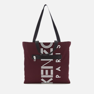 KENZO Women's Logo Nylon Tote Bag - Burgundy