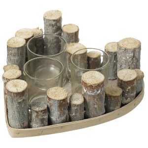 Parlane Heart Wood Tealight Holder