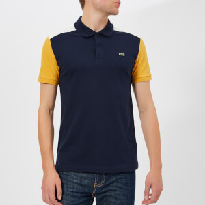 Lacoste Men's Colour Block Polo Shirt - Navy/White/Yellow