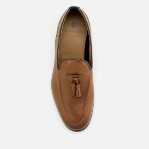 Hudson London Men's Aylsham Leather Tassle Loafers - Tan: Image 3