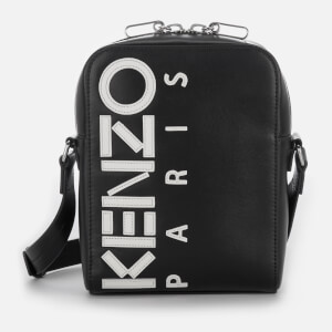 KENZO Men's Calfskin Cross Body Bag - Black