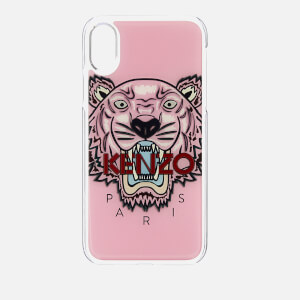 KENZO Men's Tiger Silicone iPhone X Case - Faded Pink