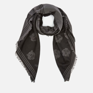 KENZO Men's Tiger Heads Square Scarf - Black
