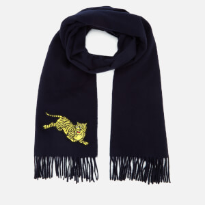 KENZO Men's Jumping Tiger Scarf - Navy Blue