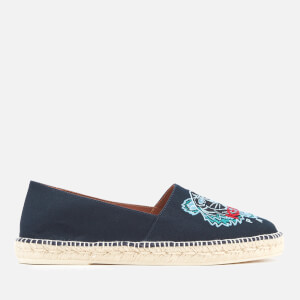 KENZO Men's Canvas Tiger Head Classic Espadrilles - Navy Blue