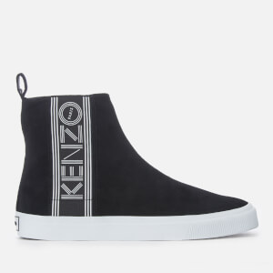 KENZO Men's Kapri Suede High Top Trainers - Black