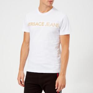 Versace Jeans Men's Gold Logo T-Shirt - White