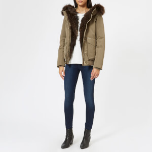 Woolrich Women's Military Bomber Coat - Alpha Taupe