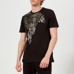 Versace Collection Men's Medusa Shoulder Print T-Shirt - Nero