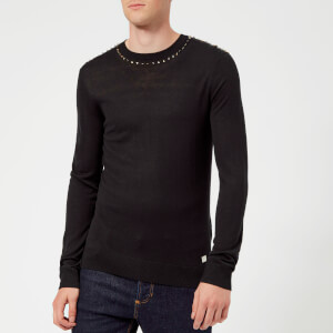 Versace Collection Men's Crew Neck Knit Jumper - Nero