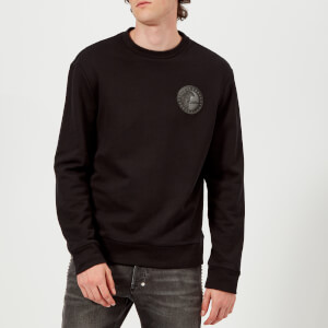 Versace Collection Men's Round Logo Sweatshirt - Nero
