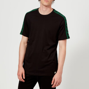 Versace Collection Men's Shoulder Tape T-Shirt - Nero