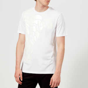 Versace Collection Men's Medusa Shoulder Print T-Shirt - Bianco