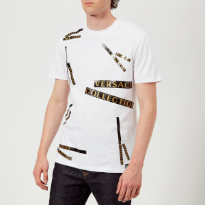Versace Collection Men's Tape Detail T-Shirt - Bianco