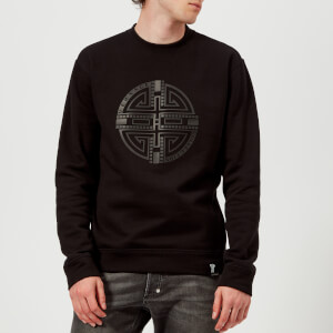 Versace Collection Men's Circle Logo Sweatshirt - Nero