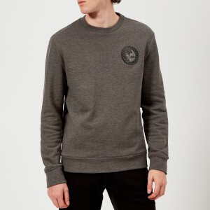 Versace Collection Men's Round Logo Sweatshirt - Grigio