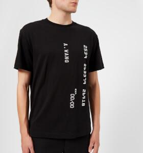 Alexander Wang Men's Credit Card Decal T-Shirt - Black