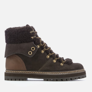 See By Chloé Women's Flat Hiking Boots - Brown
