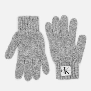 Calvin Klein Women's Basic Women Knitted Gloves - Mid Grey Heather