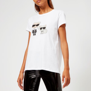 Karl Lagerfeld Women's Karl and Choupette T-Shirt - White