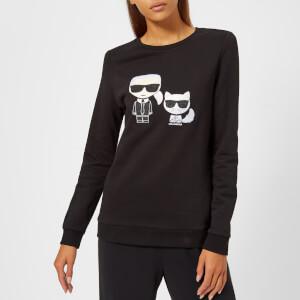 Karl Lagerfeld Women's Karl Ikonik Choupette Sweatshirt - Black