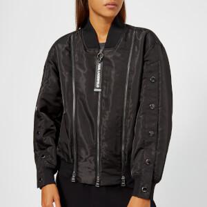 Karl Lagerfeld Women's Satin Bomber Jacket - Black