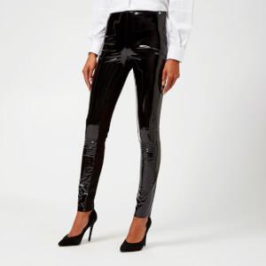 Karl Lagerfeld Women's Karl Faux Patent Leggings - Black