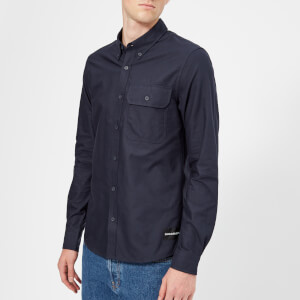 Calvin Klein Jeans Men's Button Down Classic Slim Shirt - Night Sky