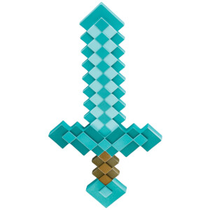 Minecraft Kids Play Sword Fancy Dress - Blue