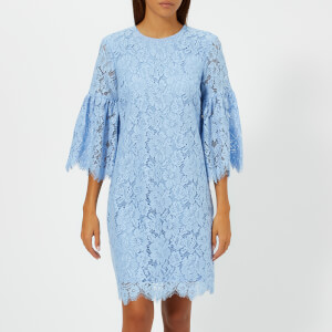 Ganni Women's Jerome Lace Dress - Serenity Blue