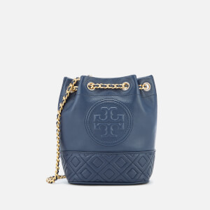 Tory Burch Women's Fleming Mini Bucket Bag - Royal Navy
