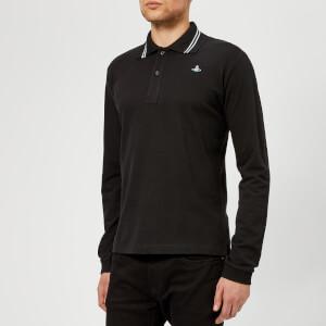Vivienne Westwood Men's Classic Piquet Long Sleeve Polo Shirt - Black