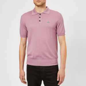 Vivienne Westwood Men's Classic Knitted Polo Shirt - Dusty Pink